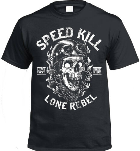 Biker T-Shirt mens womens gift present bike motorbike rider rock motorcycle