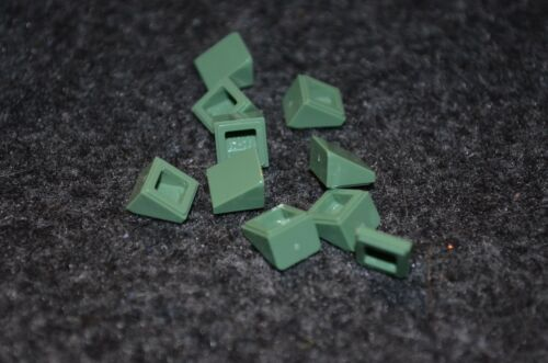10 NEW Parts 1x1 Sand Green Extra Small Slope Lego Detail Bricks