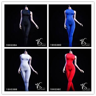 1//6 VStoys Accessory 19XG38-B Female Sleeveless Tights Bodysuits Clothes White