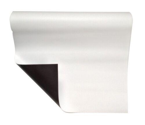 Magnetfolie weiß matt beschichtet 1mm x  50cm x  62cm