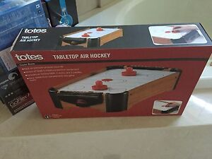 Image Is Loading Totes Tabletop Air Hockey Game New In Box