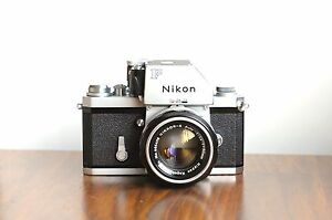 NIKON-F1-35mm-SLR-film-camera-w-50mm-f-1-4-lens-amp-Leather-Case-Good-User
