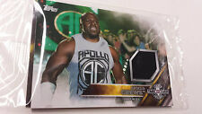 2016 TOPPS WWE Apollo Crews NXT Londra Takeover AUTHENTIC MAT RELIC