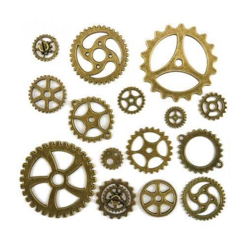 15 un Bronce Antiguo Buddly Crafts Metal Industrial Engranajes