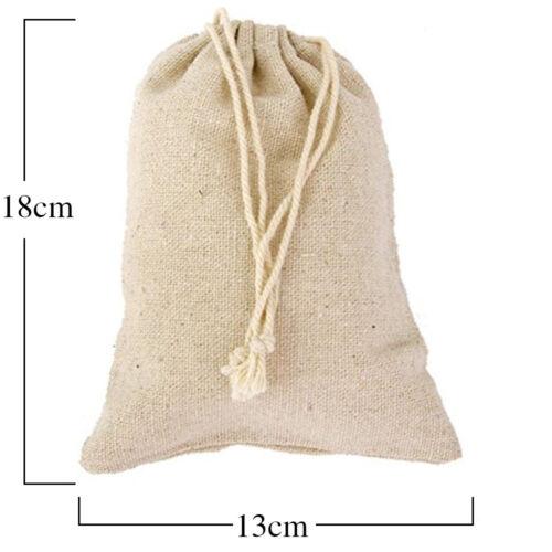 50PC Travel Cotton Linen Drawstring Storage Bag Toy Gift Jewelry Organizer Pouch