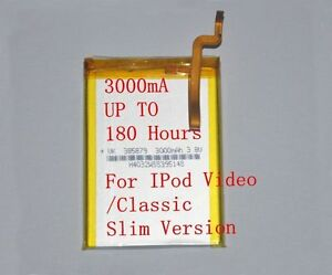 3000mAh-Battery-Upgrade-replacement-for-iPod-Classic-6-6-5-7-Video-5-5-5-Thin