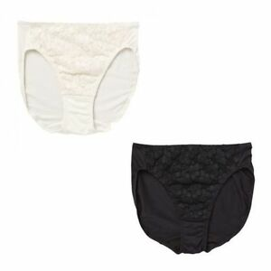 s l300 womens 12 pack jockey no ride up microfibre lace hi cut brief,Womens Underwear No Ride Up