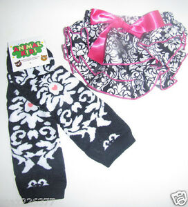 NEW-Baby-girl-Leg-Warmers-0-24-MONTHS-DAMASK-diaper-cover-bloomer-set