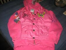 GIRLS Ed Hardy Nylon/Cotton Butterfly Hoodie Jacket Vest Top Hot Pink L (12)