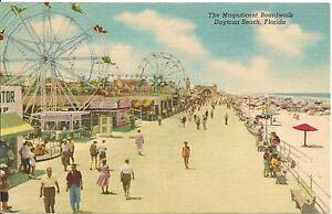 Details About Amuts On The Boardwalk At Daytona Beach Fl Postcard Amut Park