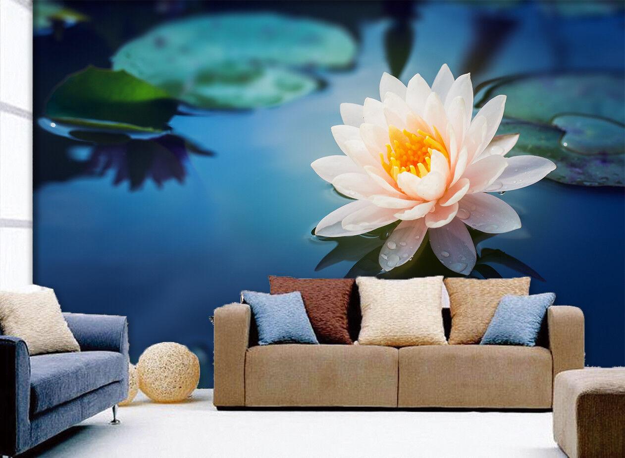 3D Pretty Water Lily 7 Wall Paper Murals Wall Print Wall Wallpaper Mural AU Kyra
