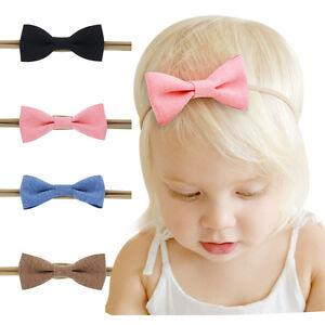 4-PCS-Kids-Girls-Baby-Headband-Toddler-Bowknot-Hair-Band-Accessories-Headwear