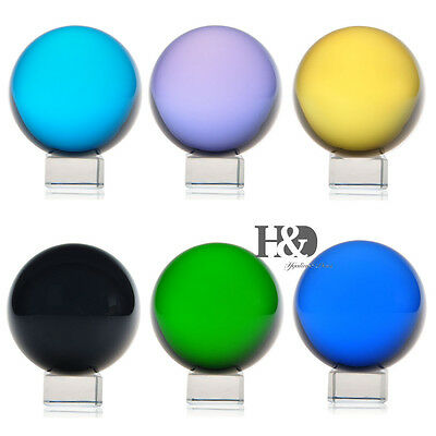 60mm + Stand 6 Color Magic Crystal Healing Ball Sphere Gifts Decor Natural Color