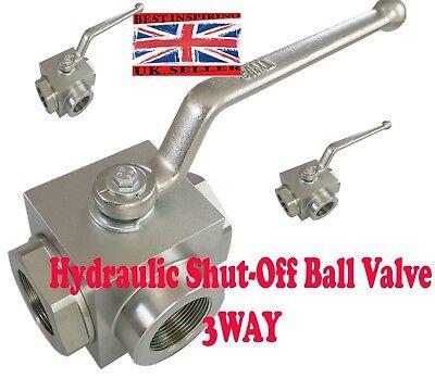 BSP FITTING  HYDRAULIC High Pressure BALL VALVE BSP Isolating Shut Off Lever