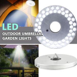 Fj-48-LED-Luce-Esterno-Campeggio-Tenda-Sole-Spiaggia-Parasole-Giardino-Lampada