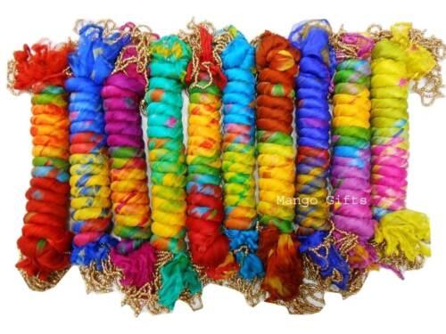 Tie-Dye Chiffon Scarves Stoles Wrap Dupatta Multi Coloured Women Scarf Lot 25 Pc