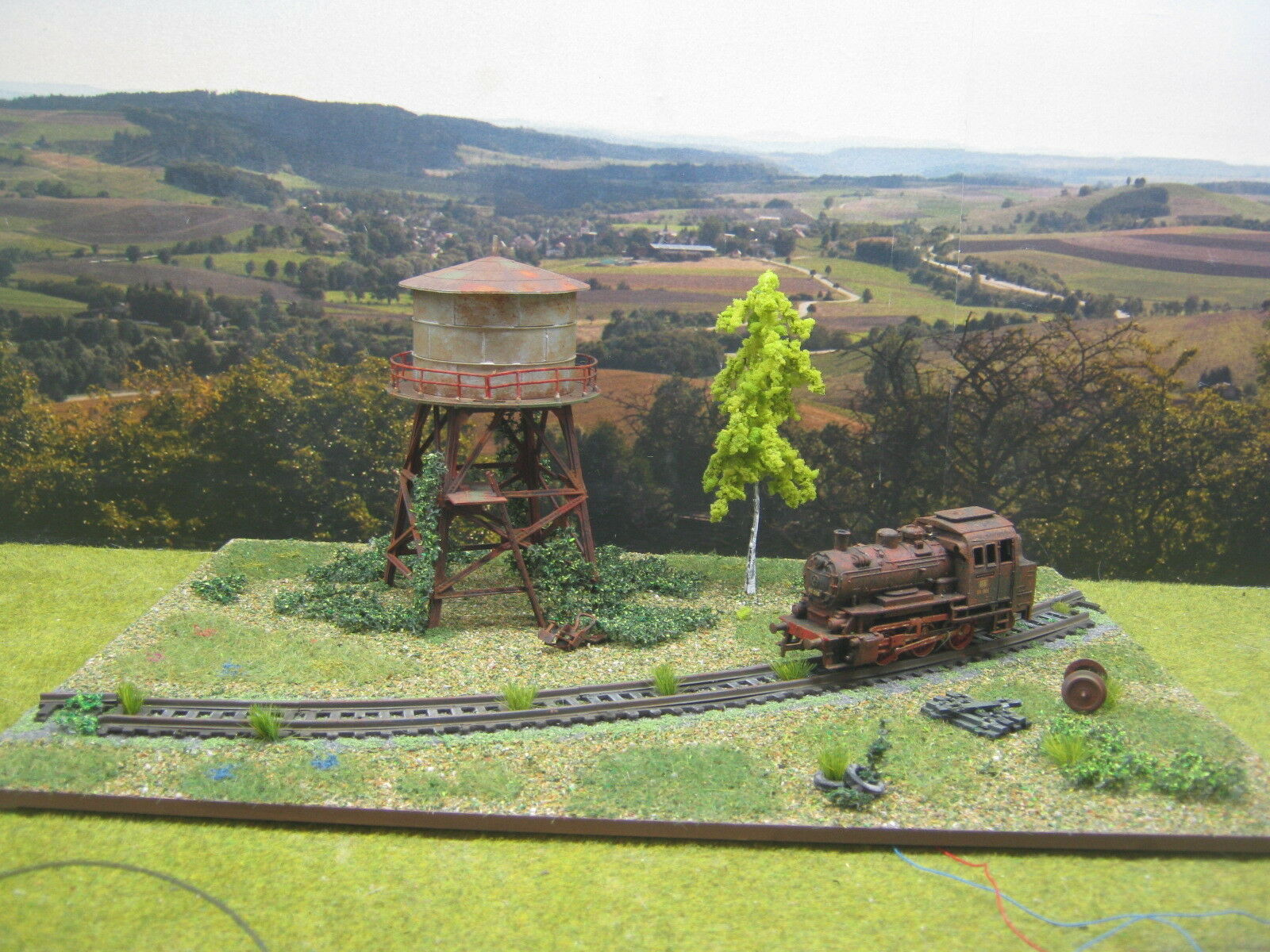 Lost places  LOK torre de agua LED modellbau paisajismo diorama h0 1 87  103