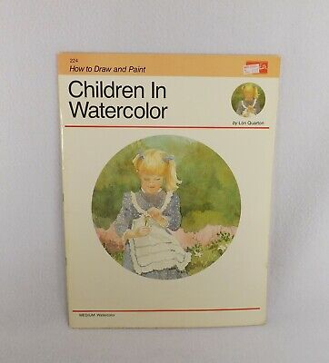 Dedicated Vtg Book Children In Watercolor:how To Draw & Paint Series Walter Foster/quarton Groot Assortiment