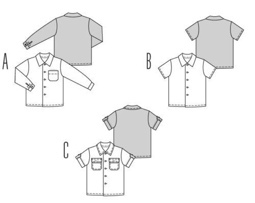 Hemd in 3 Varianten Burda Kids Schnittmuster Nr.9792