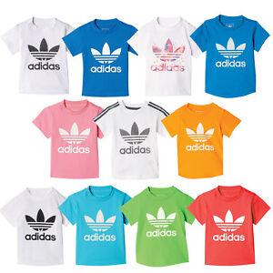 Details about Adidas Originals Kleinkinder Shirt Baby Tee Kinder Trefoil T Shirt