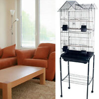 Tall Cockatiel Parakeet Finch Canary Bird Cage With Black Stand 1705h-254