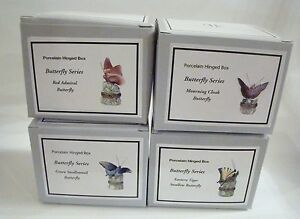 PHB-Midwest-of-Cannon-Falls-Hinged-Boxes-BUTTERFLY-SERIES-Set-of-4