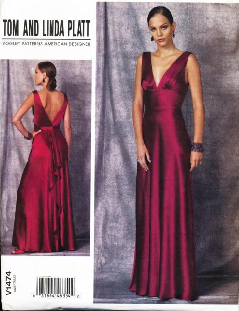 2015 Vogue Sewing Pattern 1474 Misses Sz 4-12 Tom & Linda Platt ...