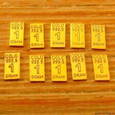 10 Stück GOLDBARREN je 0,0648 Gramm 999,9 Feingold Gold Barren Münze °LIMITIERT°