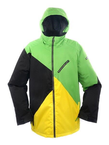 Neue RIDE Mens Snowboard Ski Jacket  [schwarz & Gelb vs Fern Grün]
