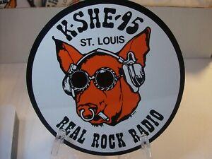 K-SHE 95 Real Rock Radio Sticker     K-SHE KSHE  K SHE New Backing