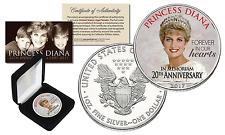 PRINCESS DIANA 1997-2017 20th ANNIVERSARY 1oz PURE SILVER AMERICAN US Eagle Coin