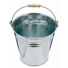 10L Resistente Acero Galvanizado Metal Cubo Agua Carbón Fuego Con Mango 12 Litro