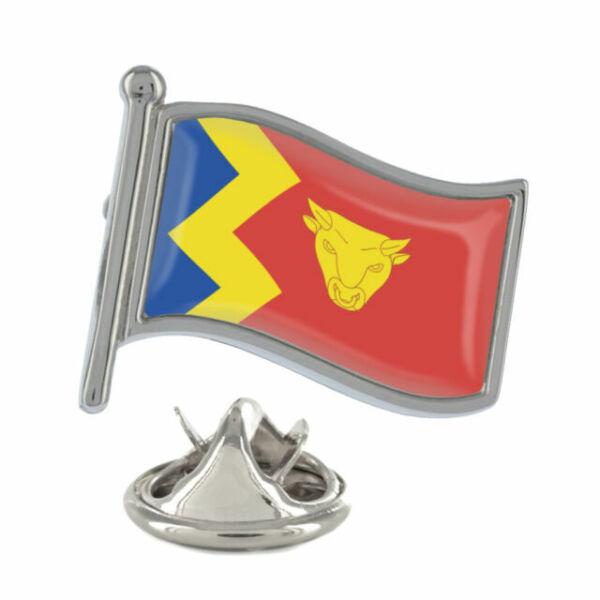 City of Birmingham Wavy Flag Pin Badge west midlands brummie brum mids NEW