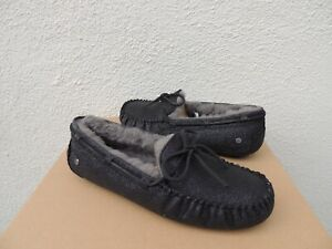 Moccasin Sparkle Dakota 42 Eur Nib Sheepwool 11 Ugg Us Black Women ~ Slippers nIfq616w