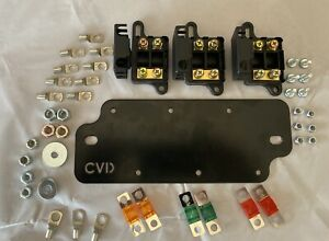 Midi Fuse Battery Plate Set Includes 3x Double Fuse Holders, Fuse, Lugs & Bolts