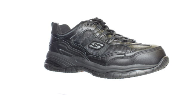 Skechers Mens Grinnel Black Safety Shoes Size 10.5 (4E) (1588428)