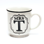 Alphabet mugs Mme T Mariage Anniversaire Cadeau Stoneware Mug
