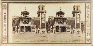 ITALIE-Venise-L-Arsenal-Photo-Sommer-Stereo-Vintage-Albumine-ca-1865