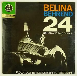 """12"""" LP - Belina - Behrend - 24 Songs And One Guitar  - B1074 - washed & cleaned"""