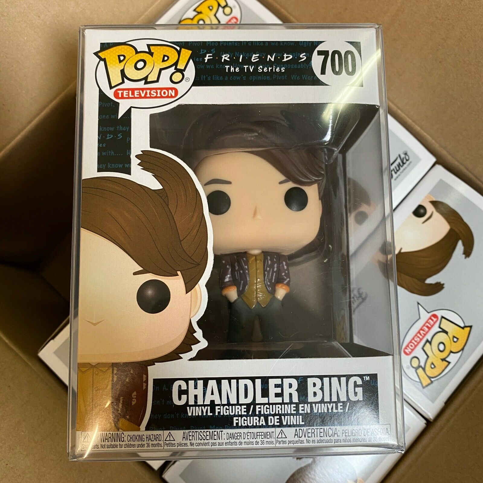 """Pop Television: Friends Wave 2 - Chandler Bing #700 w/Protector Case """"MINT"""""""
