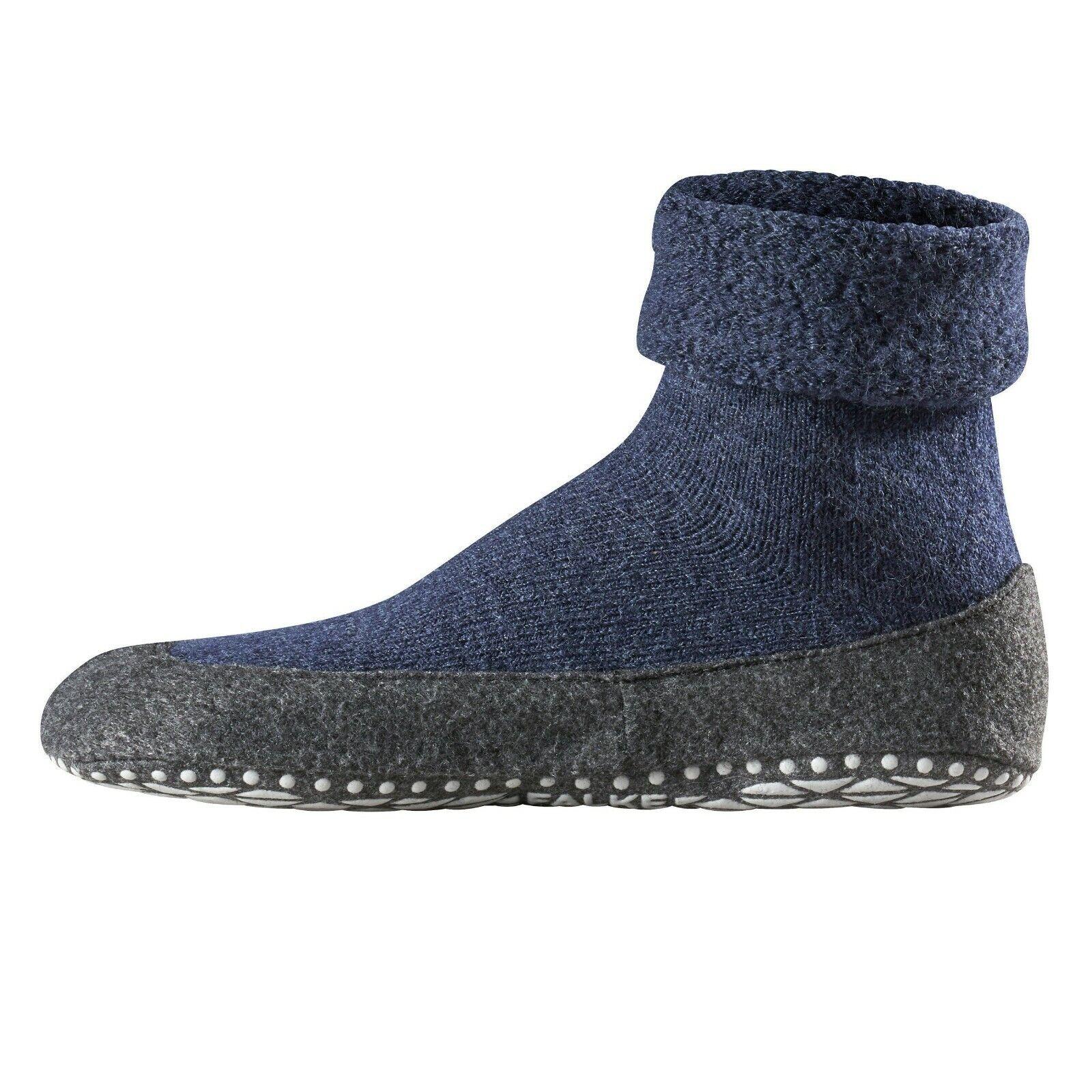 Details about Socks from Home Man Blue Non Slip in Wool Merino Falke Art. 16560 Cosyshoe