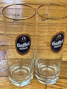 Collectible Set Gaffel Kolsch Cologne German Beer Glass 0.3 0.2 Litre *Stange*