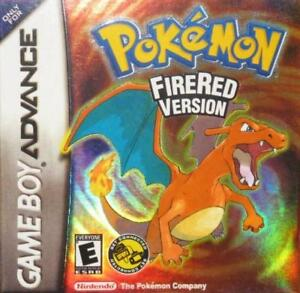 Pokemon Fire Red Version GBA Great Condition Fast Shipping
