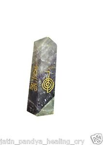 Jet-Amethyst-Usui-Engraved-Tower-Obelisk-3-5-inch-approx-Wand-Jet-International