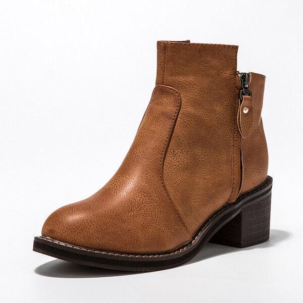 Bottes bottes brun confortable rangers femme talon 5.5 cm 1648