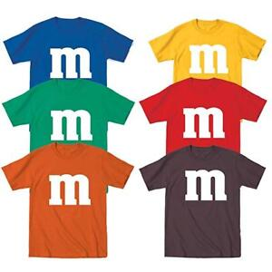 M /& M Halloween Costume M and M Group Costumes Tee Youth T Shirt Tee New