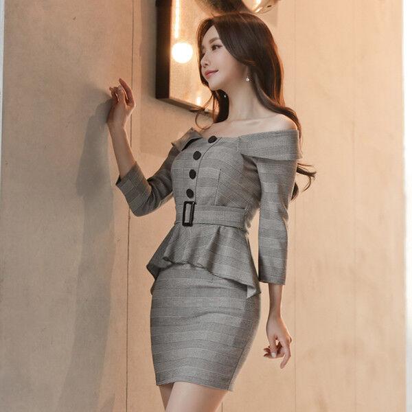 Elegante vestito abito tubino bianco grigio corto corto corto maniche lunghe 4014 ccf829