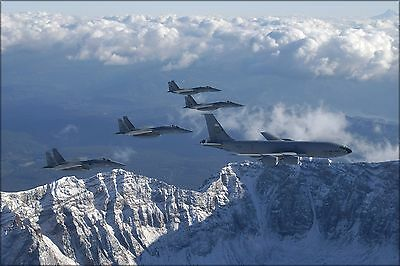 Poster, Many Sizes; Kc-135 Stratotanker 939Th Air Refueling, F-15 Eagles 123Rd
