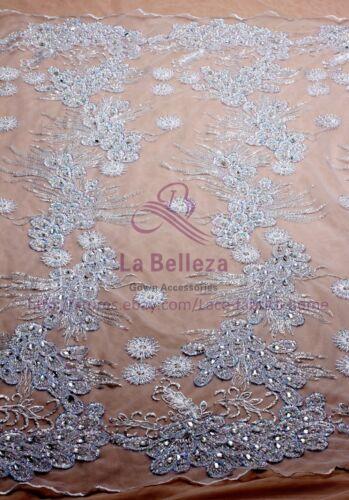 Restock white//black super heavy beaded beaded magic sequins lace fabric 51/'/'