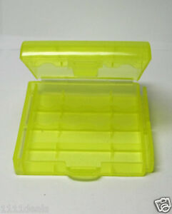 1-Yellow-Plastic-Battery-Case-Holder-for-4-x-14500-Batteries